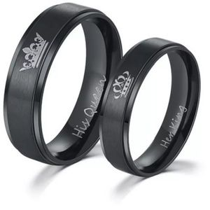 Jewelry - 2 pc. Engraved His & Her Ring Set
